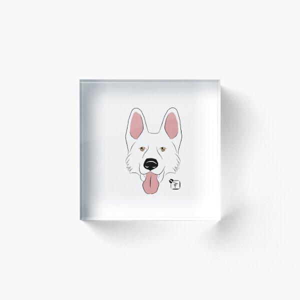 White German Shepherd Acrylic Block