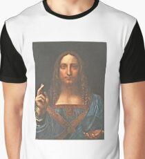 Leonardo da Vinci - Salvator Mundi (1513) Graphic T-Shirt