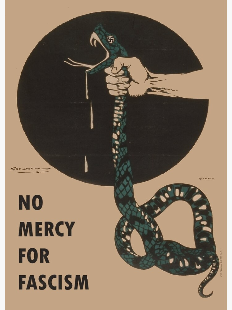 No Mercy For Fascism! - Vintage WWII poster design by dru1138