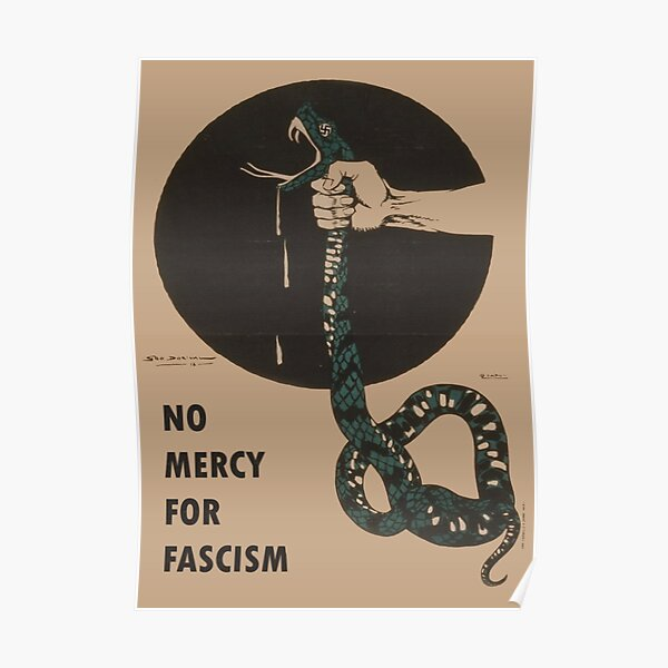 No Mercy For Fascism! - Vintage WWII poster design Poster