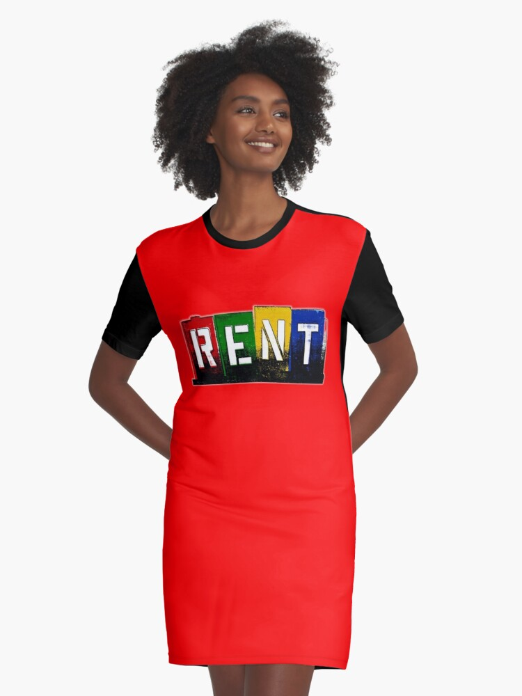 'RENT - Musical' Graphic T-Shirt Dress by Specialstace83