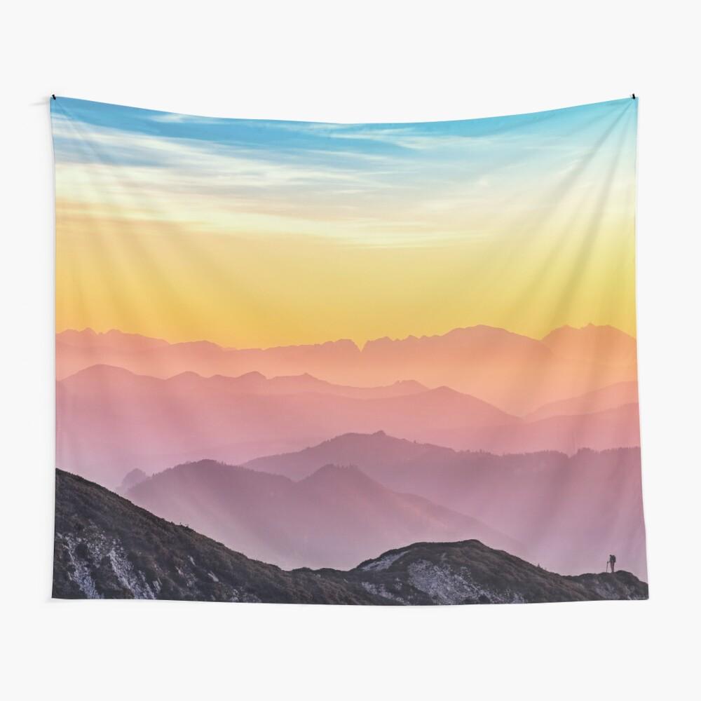 Pastel skies Wall Tapestry