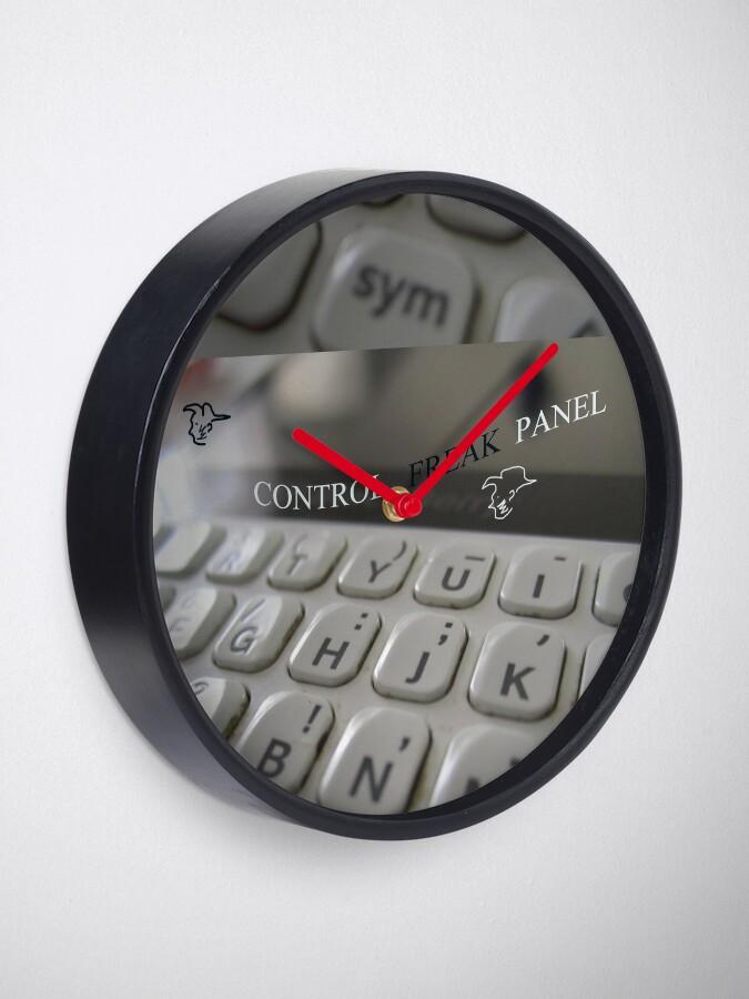 Alternate view of Control freak. Control freak panel Clock