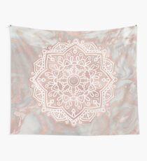 Tela decorativa Mandala de oro rosa - mármol pulido francés