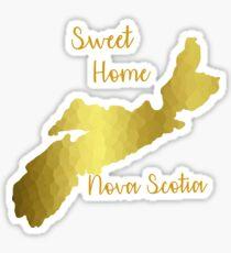 Sweet Home Nova Scotia Gold Sticker