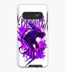 Beautiful Alpha Wolf Purple Case/Skin for Samsung Galaxy