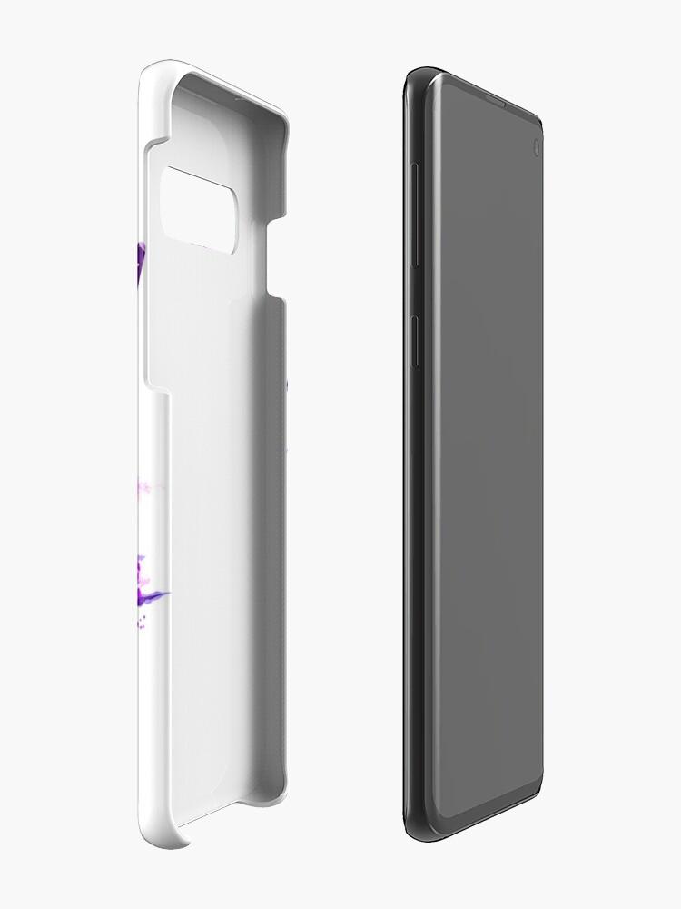 Alternate view of Beautiful Alpha Wolf Purple Case & Skin for Samsung Galaxy