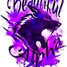 Beautiful Alpha Wolf Purple by MandyRosko