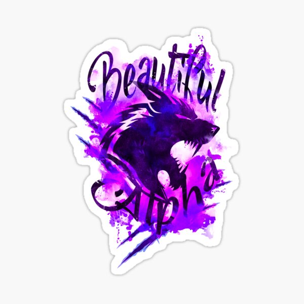 Beautiful Alpha Wolf Purple Sticker