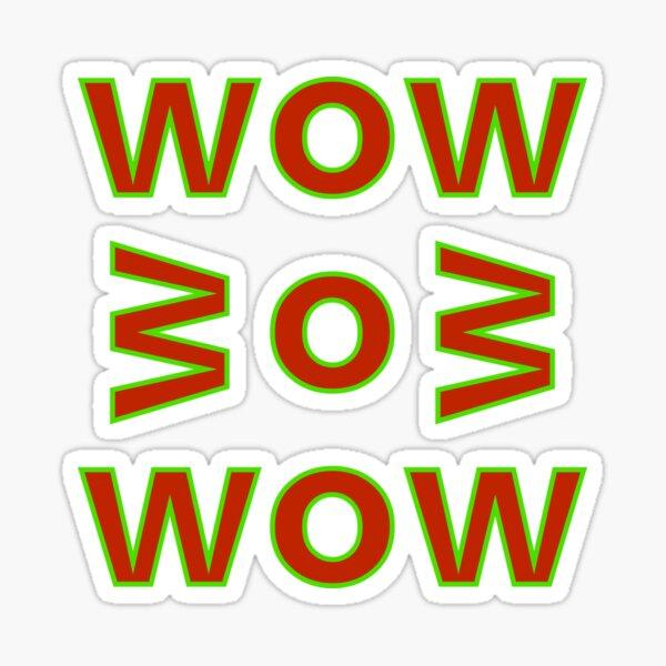 WOW BOB WOW Sticker