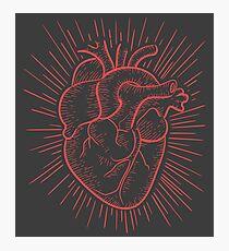 Red human heart illustration Photographic Print