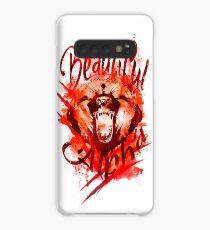 Beautiful Alpha Bear Red Case/Skin for Samsung Galaxy