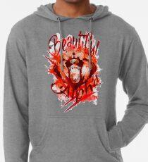Beautiful Alpha Bear Red Lightweight Hoodie