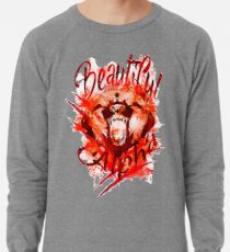 Beautiful Alpha Bear Red Lightweight Sweatshirt
