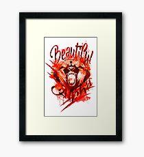 Beautiful Alpha Bear Red Framed Print