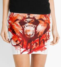 Beautiful Alpha Bear Red Mini Skirt