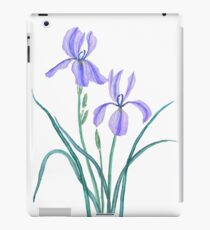 2 purple iris watercolor painting  iPad Case/Skin