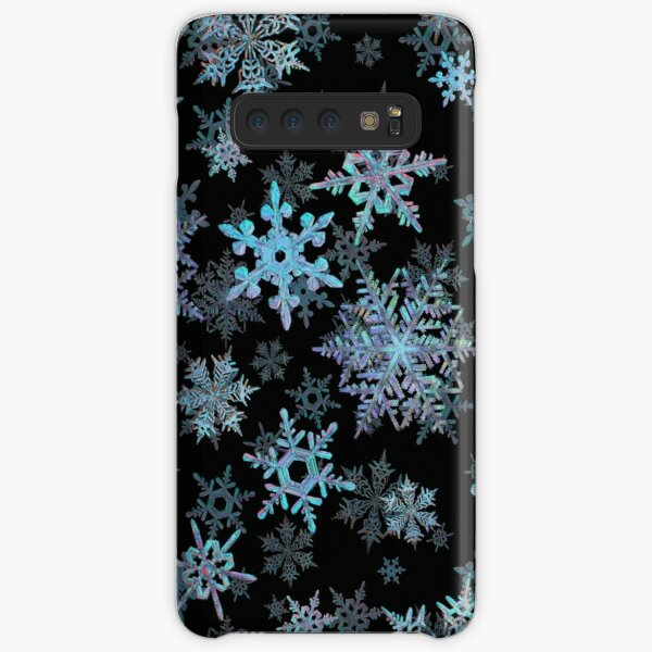 Embroidered Snowflakes on dark Samsung Galaxy Snap Case