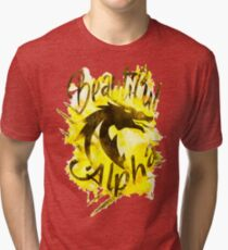 Beautiful Dragon Alpha Yellow Tri-blend T-Shirt