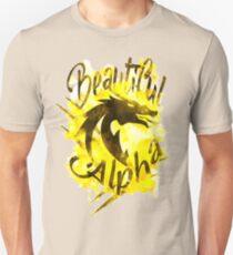 Beautiful Dragon Alpha Yellow Slim Fit T-Shirt