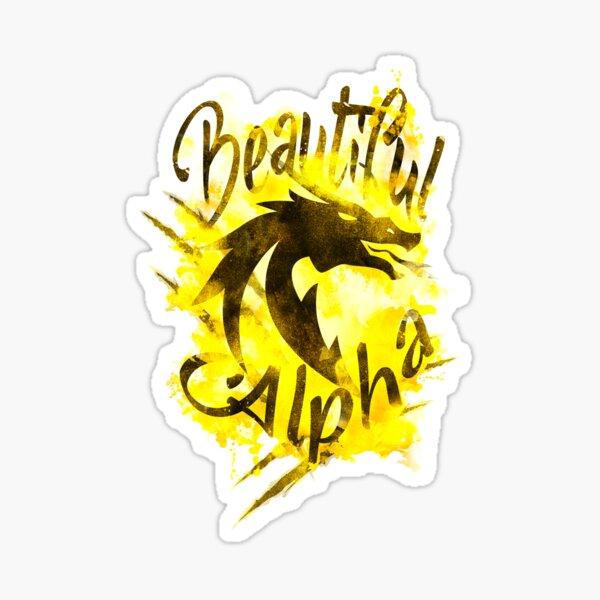 Beautiful Dragon Alpha Yellow Sticker