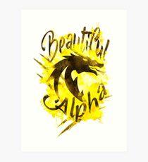 Beautiful Dragon Alpha Yellow Art Print