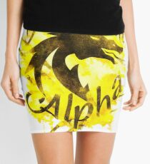 Beautiful Dragon Alpha Yellow Mini Skirt