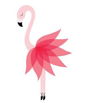 Flamingo dancer by Twoandthree