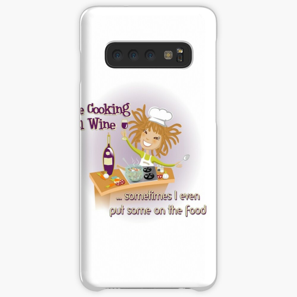 i LOVE COOKING WITH WINE Case & Skin for Samsung Galaxy