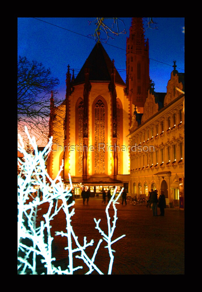 Wurzberg in Winter Eve by Christine Richardson