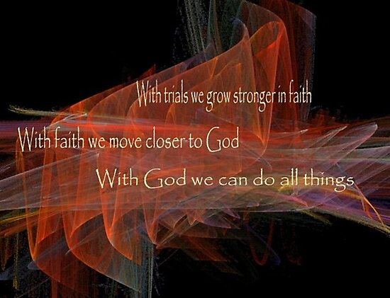 With God We Can Do All Things by Marie Sharp