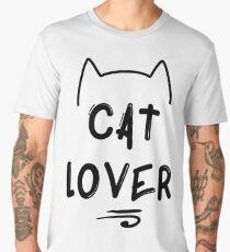 Cat Lover - Black Men's Premium T-Shirt