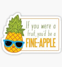 FiINE-APPLE - Cartoon Pineapple Sticker