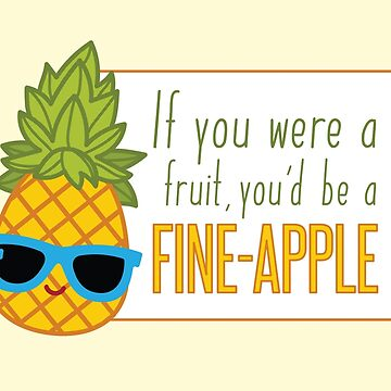 FiINE-APPLE - Cartoon Pineapple by wfultzdesigns
