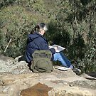 Artist at work in the Warrumbungles by Virginia McGowan