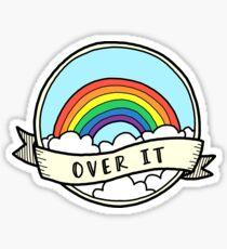 Over It Rainbow Sticker