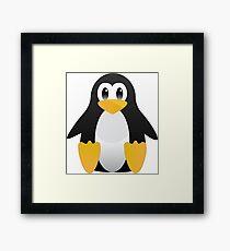 Cute penguin in cartoon style Framed Print