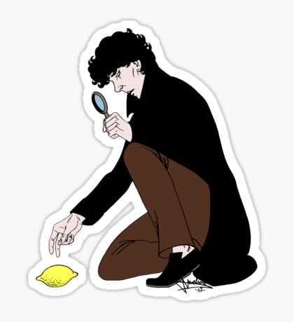 Guess Who Found the Lemon?! Sticker