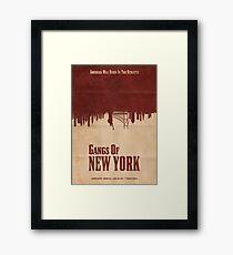 Gangs Of New York Poster Framed Print