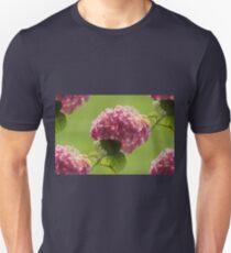 hydrangea in the garden Unisex T-Shirt