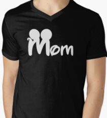 MOM mickey Men's V-Neck T-Shirt