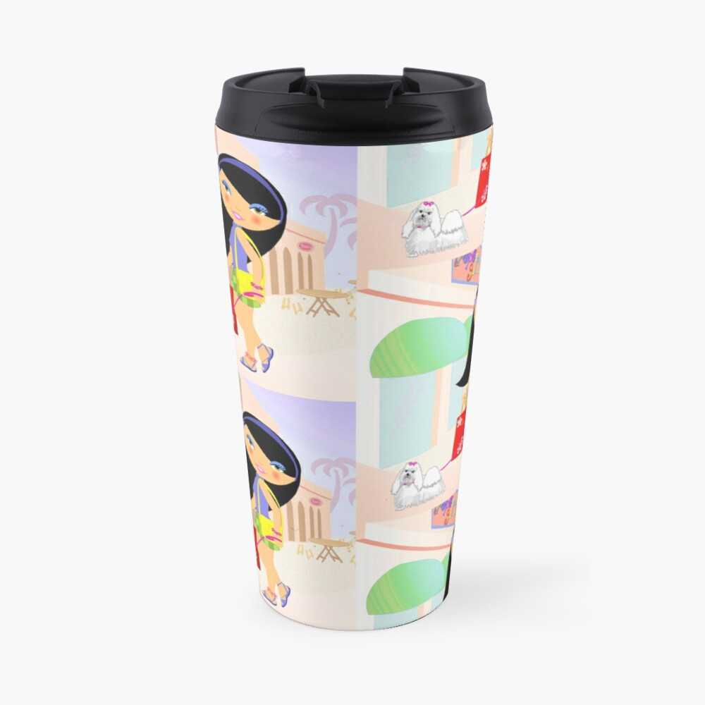 TropoGirl - A day in the mall Travel Mug