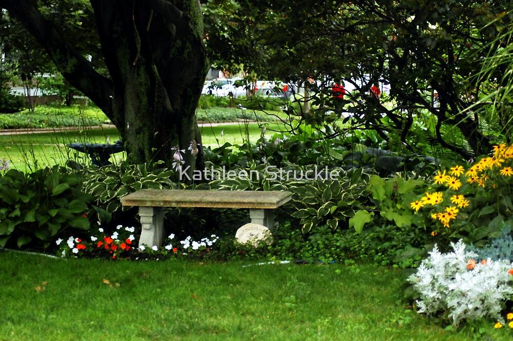 Bench In The Garden by Kathleen Struckle