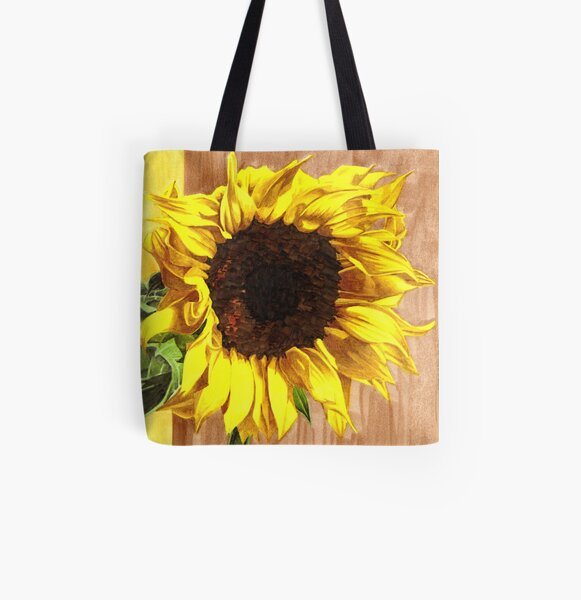 Yellow Sunflower All Over Print Tote Bag