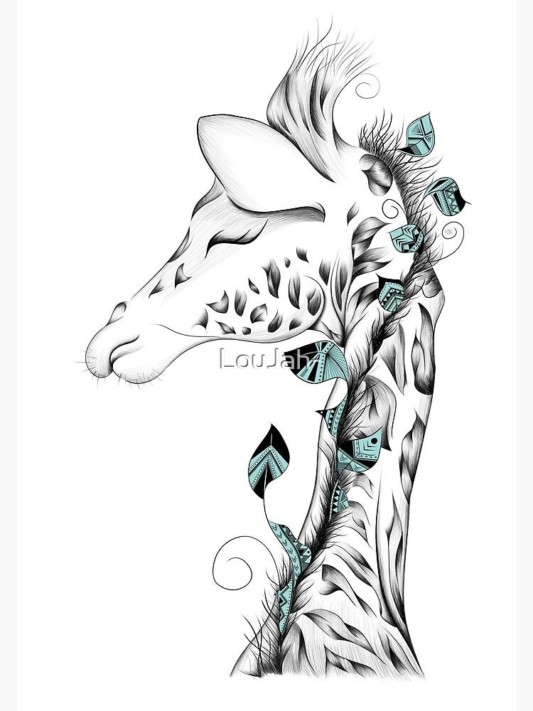 Poetic Giraffe by LouJah-