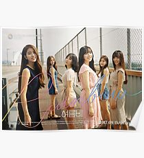 Gfriend (여자친구) Summer Rain (여름비) Poster