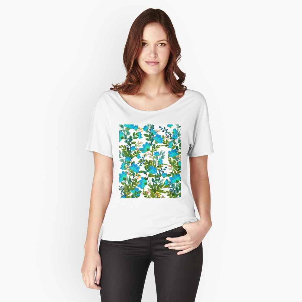 Blue #redbubble #decor #buyart Relaxed Fit T-Shirt