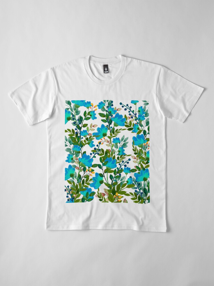 Alternate view of Blue #redbubble #decor #buyart Premium T-Shirt