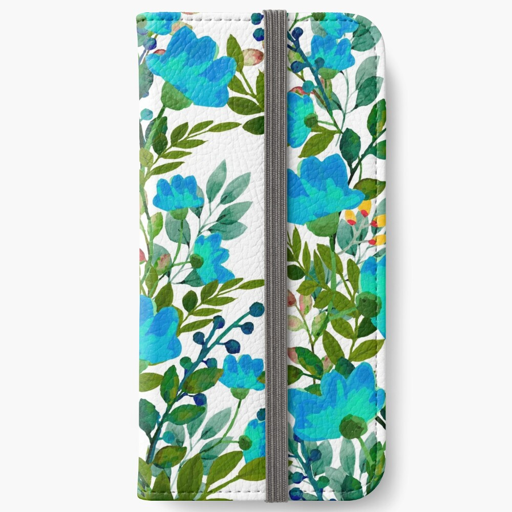 Blue #redbubble #decor #buyart iPhone Wallet