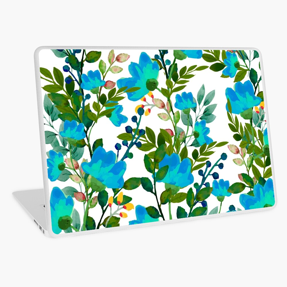 Blue #redbubble #decor #buyart Laptop Skin